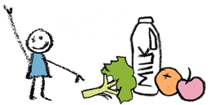 Healthy Start - child with healthy food and milk