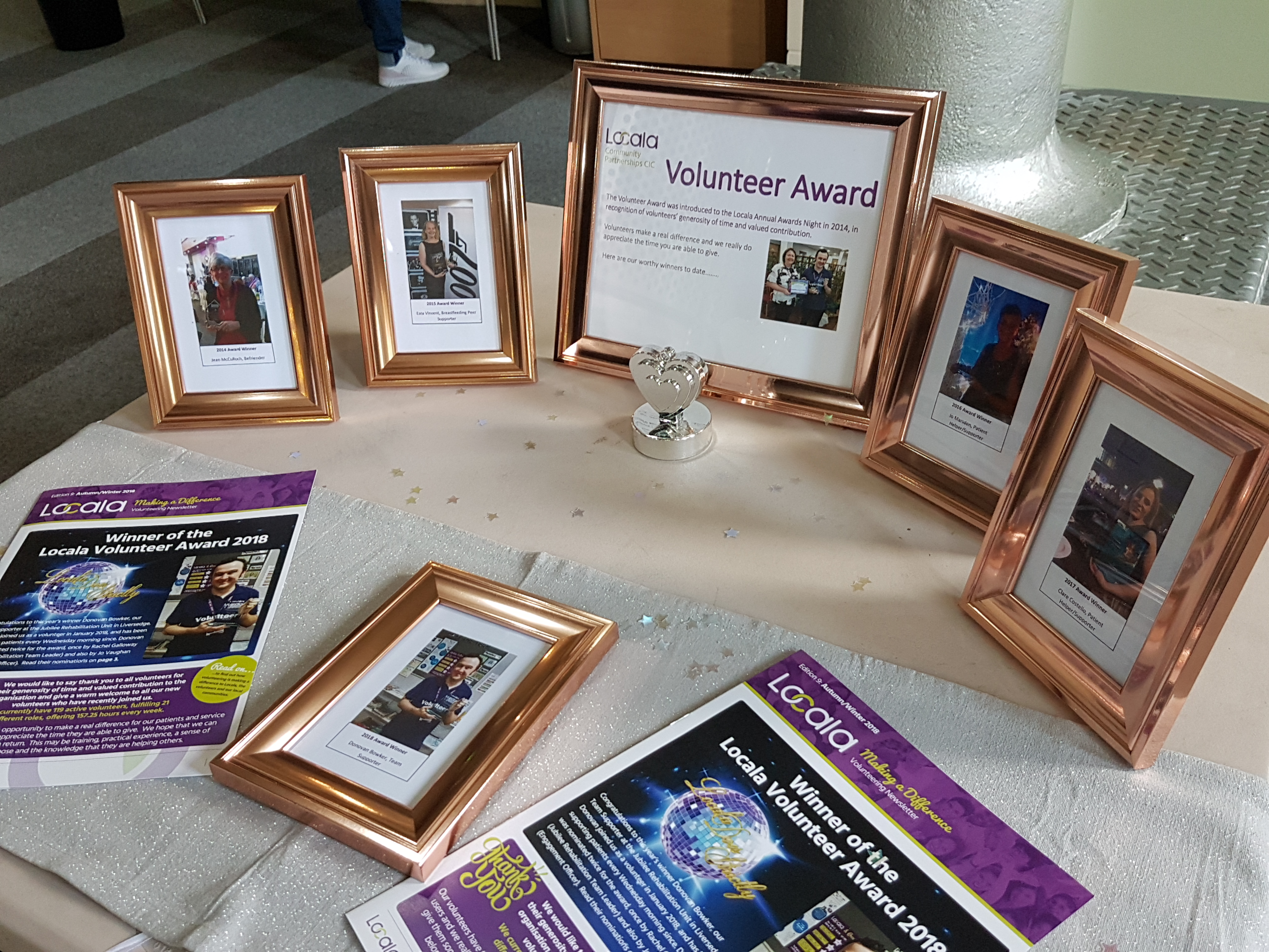 Awards given to volunteers